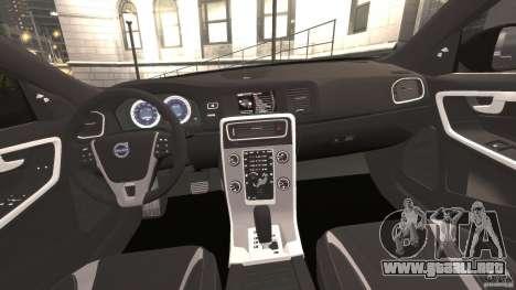 Volvo S60 R-Designs v2.0 para GTA 4 vista hacia atrás