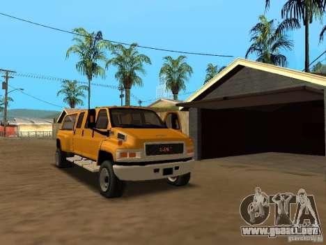 GMC TopKick para visión interna GTA San Andreas