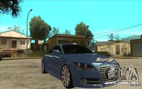 Audi TT 3.2 Coupe para GTA San Andreas vista hacia atrás