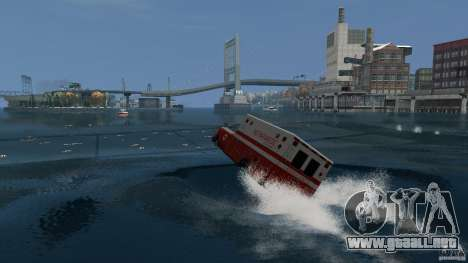 Ambulance boat para GTA 4 left