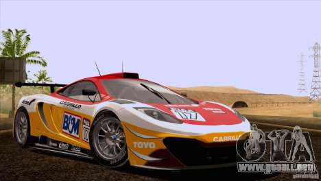 McLaren MP4-12C Speedhunters Edition para vista inferior GTA San Andreas
