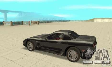 Chevrolet Corvette 5 para GTA San Andreas vista hacia atrás