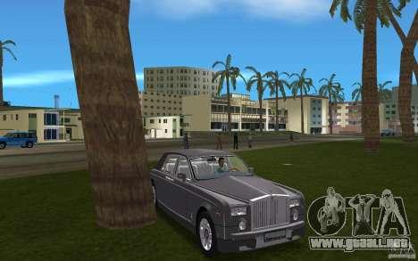 Rolls Royce Phantom para GTA Vice City vista posterior