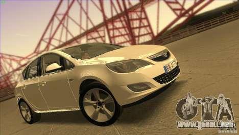 Opel Astra 2010 para GTA San Andreas interior
