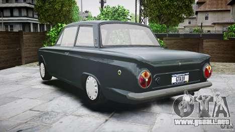 Lotus Cortina S 1963 para GTA 4 vista desde abajo