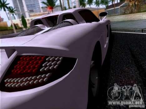 Porsche Carrera GT para GTA San Andreas vista posterior izquierda