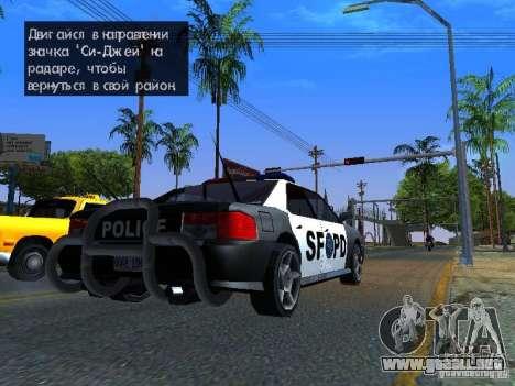 San-Fierro Sultan Copcar para GTA San Andreas left