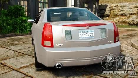 Cadillac CTS-V 2004 para GTA 4 Vista posterior izquierda