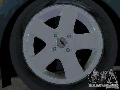 Chevrolet Spark para GTA 4 vista interior