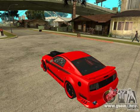 Ford Mustang Red Mist Mobile para GTA San Andreas left