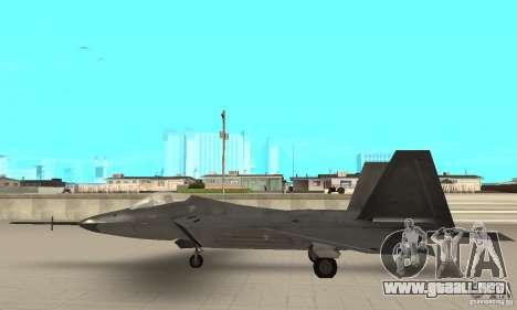 YF-22 Black para GTA San Andreas left