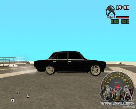 VAZ 2107 DuB para GTA San Andreas left