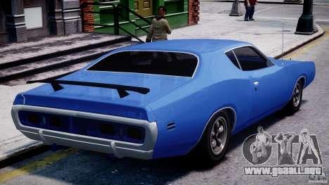 Dodge Charger RT 1971 v1.0 para GTA 4 Vista posterior izquierda