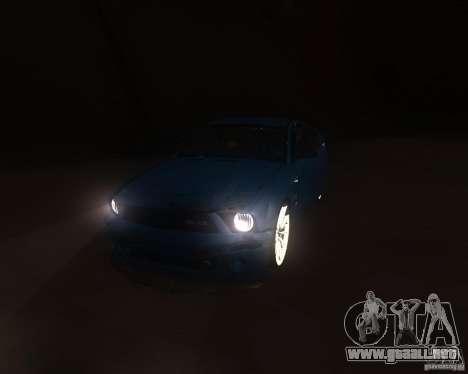 Shelby Mustang 2009 para GTA San Andreas vista hacia atrás
