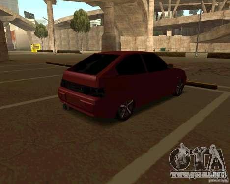 LADA 2112 Coupe v. 2 para GTA San Andreas vista posterior izquierda