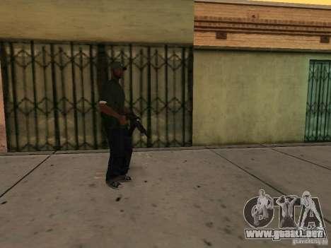 La capacidad de llamar una Suite para GTA San Andreas tercera pantalla