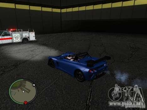 Lotus 2-Eleven 2009 para GTA San Andreas vista posterior izquierda