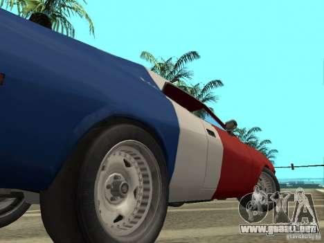 AMC Javelin 1970 para GTA San Andreas vista hacia atrás