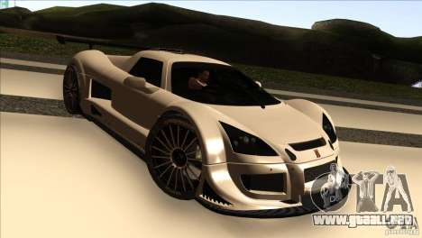 Gumpert Apollo para vista lateral GTA San Andreas
