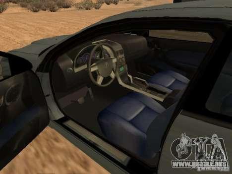 Vauxhall Monaro para GTA San Andreas vista posterior izquierda