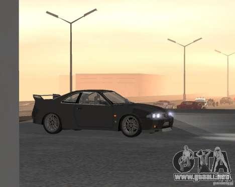 Nissan Skyline GT-R R-33 para la vista superior GTA San Andreas