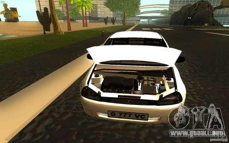 Lada Kalina Stock para GTA San Andreas vista hacia atrás