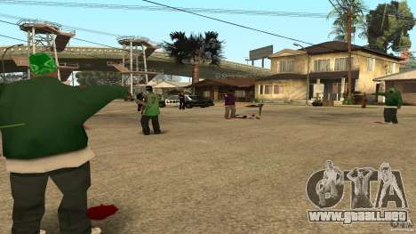 El Grove Street fue atacado por Ballas para GTA San Andreas tercera pantalla