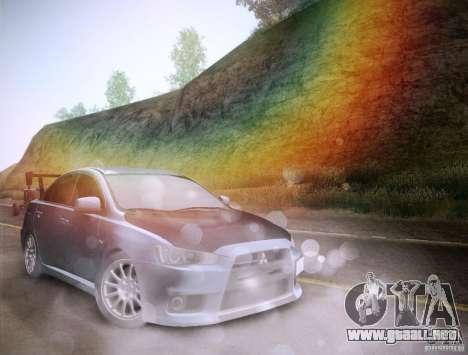 Mitsubishi Lancer Evolution Drift Edition para GTA San Andreas interior