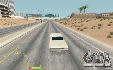 Calibrador de combustible y velocímetro para GTA San Andreas segunda pantalla