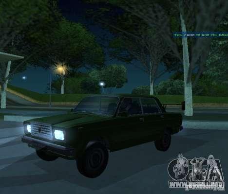 VAZ 2107 permite para GTA San Andreas vista hacia atrás