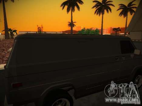 GMC Vandura para visión interna GTA San Andreas