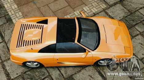 Ferrari F355 F1 Berlinetta para GTA 4 visión correcta