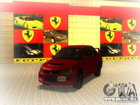 Mitsubishi Lancer Evolution IX MR 2006 para GTA San Andreas left