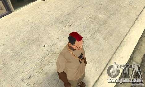Red Mohawk and Black Stubbles para GTA San Andreas segunda pantalla