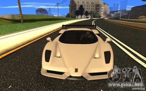 Ferrari Enzo ImVehFt para GTA San Andreas vista hacia atrás