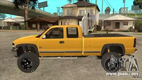 Chevrolet Silverado 2500 Lifted para GTA San Andreas left
