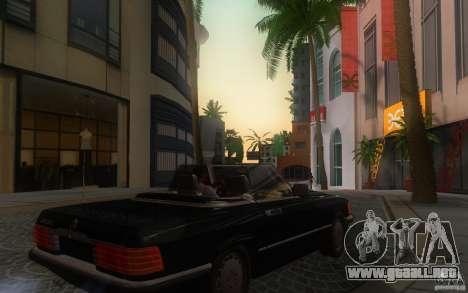 Mercedes-Benz 350 SL Roadster para GTA San Andreas vista hacia atrás