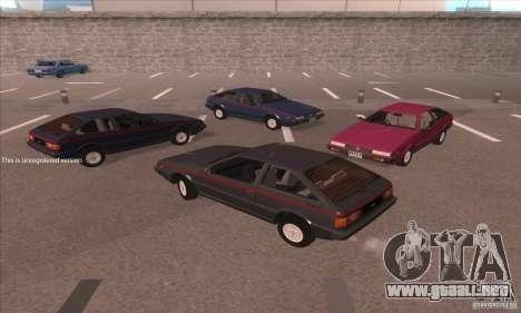 Isuzu Piazza para GTA San Andreas vista hacia atrás