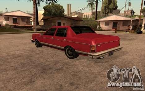 Regal 1987 San Andreas Stories para GTA San Andreas vista posterior izquierda