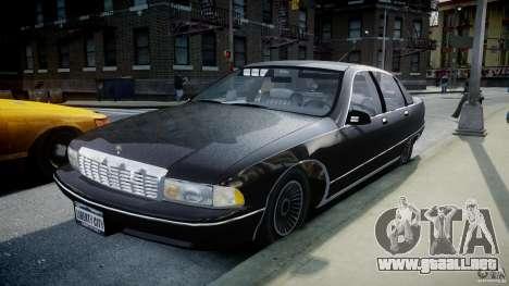 Chevrolet Caprice FBI v.1.0 [ELS] para GTA 4 vista hacia atrás