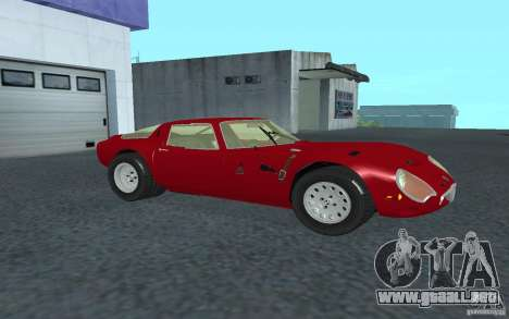 Alfa Romeo Gulia TZ2 1965 para GTA San Andreas left