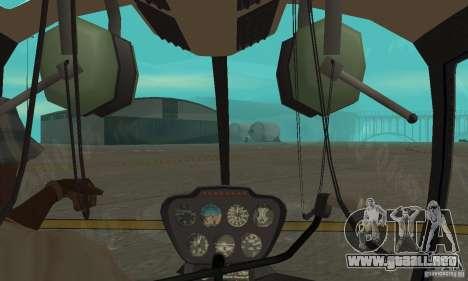 Robinson R44 Raven II NC 1.0 piel 4 para visión interna GTA San Andreas