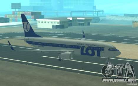 Boeing 737 LOT Polish Airlines para vista inferior GTA San Andreas