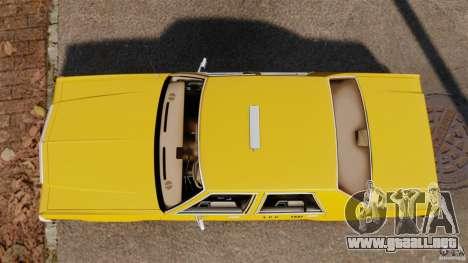 Ford LTD Crown Victoria 1987 L.C.C. Taxi para GTA 4 visión correcta