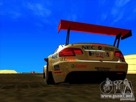 BMW M3 GT ALMS GT2 Series para la visión correcta GTA San Andreas