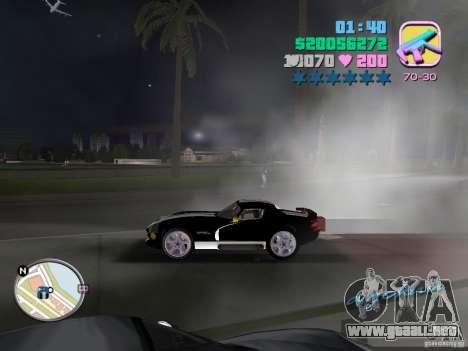 Dodge Viper Hennessy 800 para GTA Vice City vista posterior
