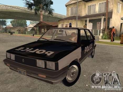 Renault 11 Police para GTA San Andreas vista hacia atrás
