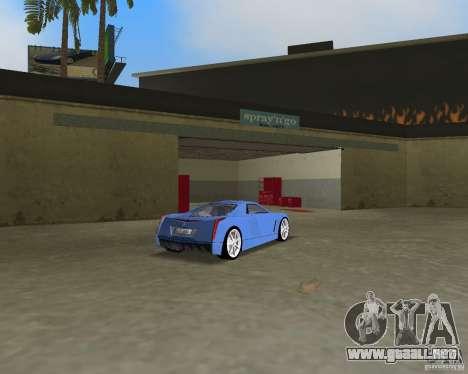 Cadillac Cien para GTA Vice City vista posterior