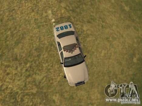Ford Crown Victoria NYPD Police para vista lateral GTA San Andreas