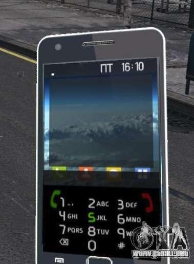 Samsung Galaxy S2 para GTA 4 adelante de pantalla